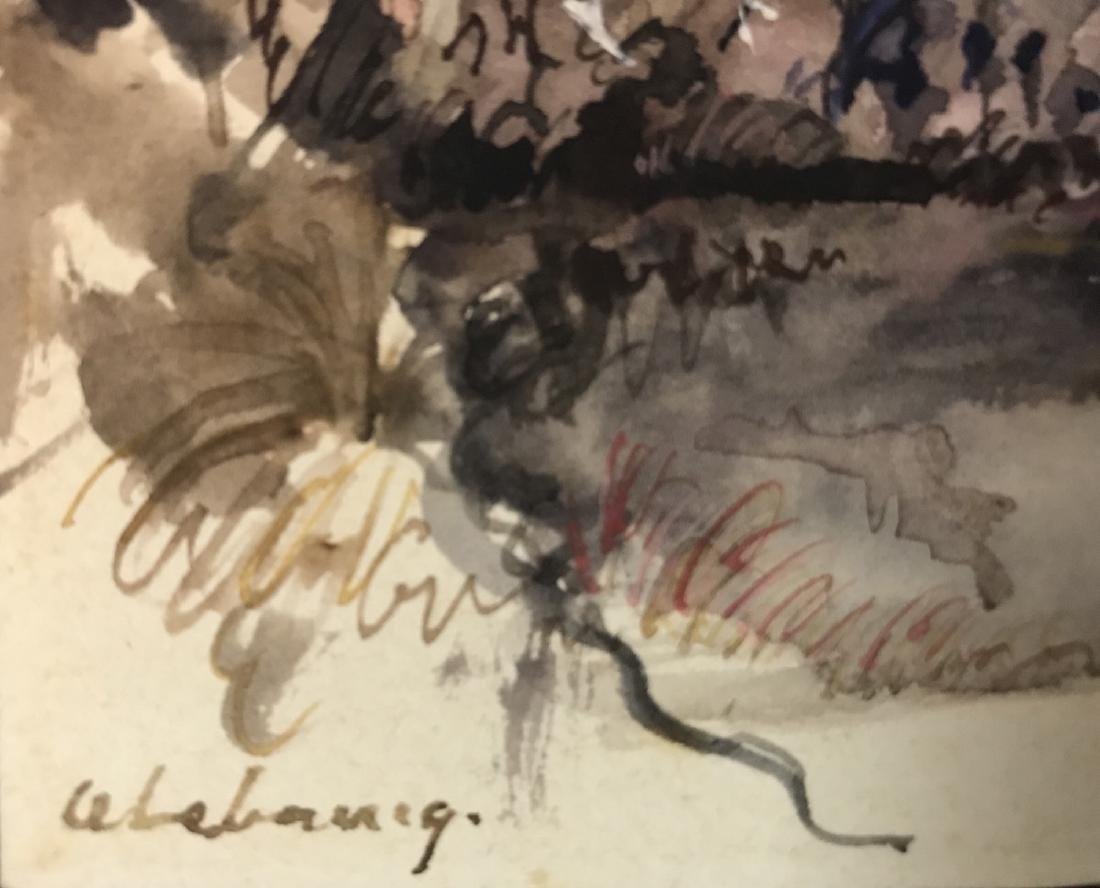 Albert Marie Lebourg  (1849 - 1928)Watercolor / Paper, - 2