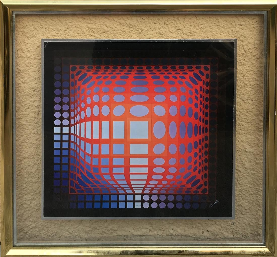 Victor Vasarely Screen-Print signed