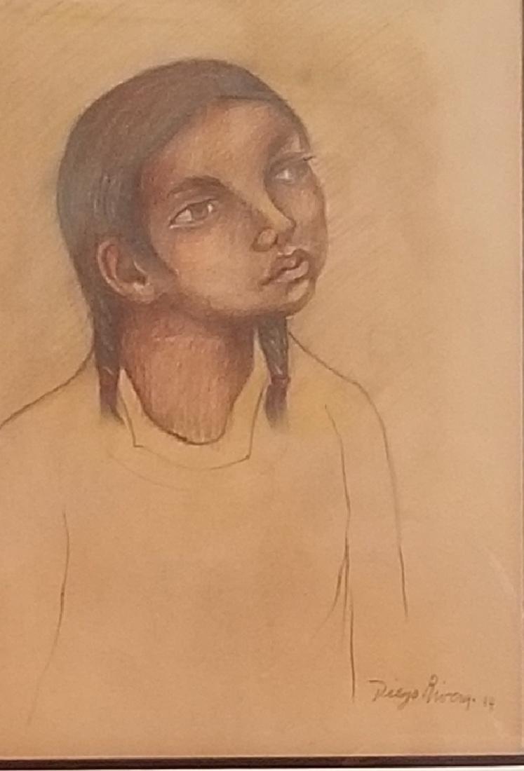 Diego Rivera (1886-1957) - Pastel on paper - ATTRIB.