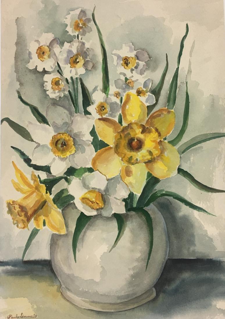 "Paul Immel  Watercolor/ papel, measures 19 X 13.25""w-"