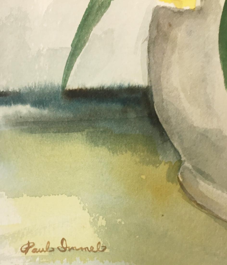 "Paul Immel  Watercolor/ papel, measures 19 X 13.25""w- - 2"