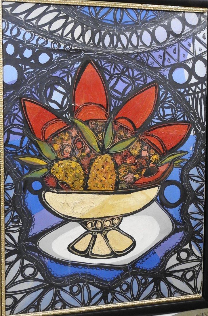 Amelia Pelaez del Casal Oil on canvas,(Attrib-coa)