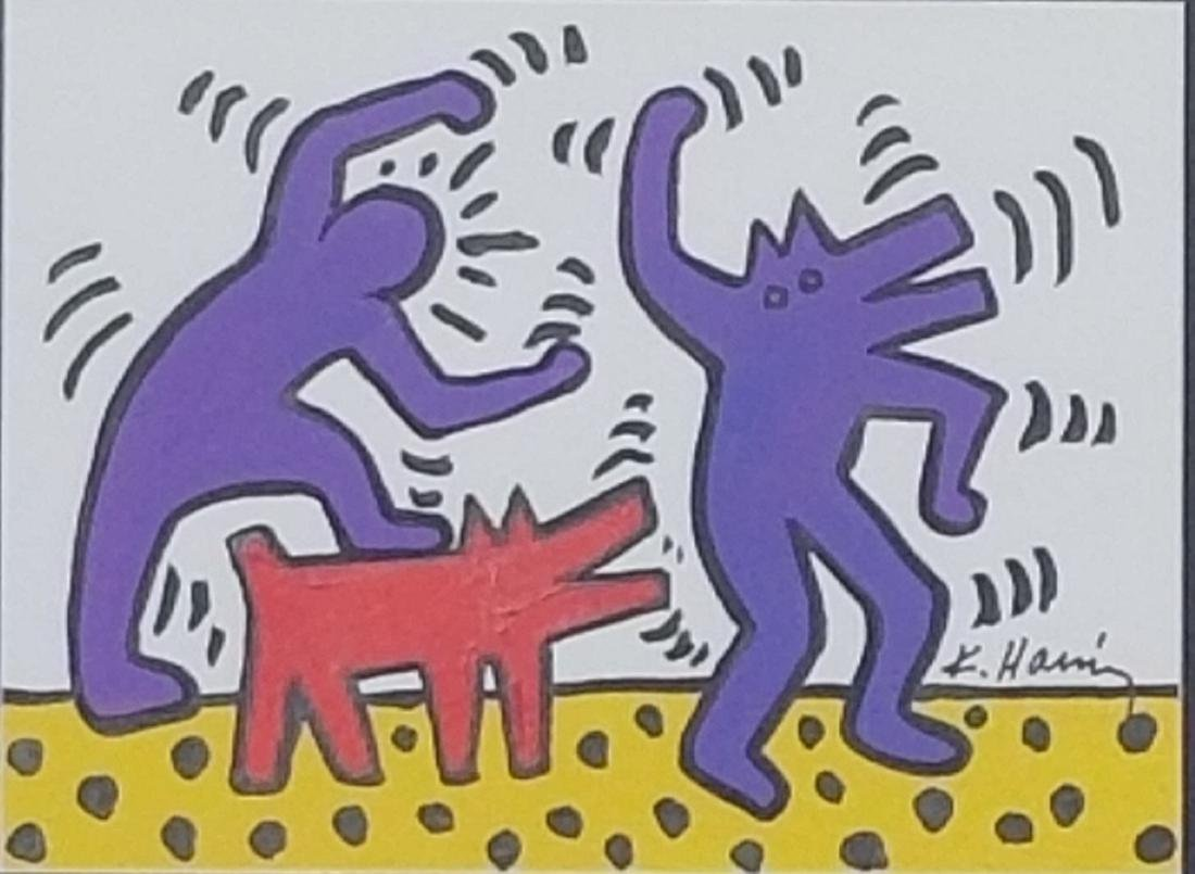 Keith Haring (1958-1990) Was the American artist whose