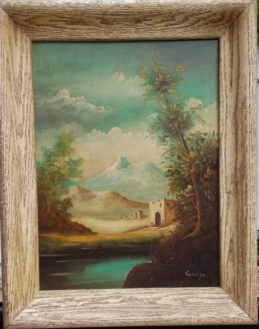 "Unknow artist signed Lazugo.oil on canvas 15.5""h"