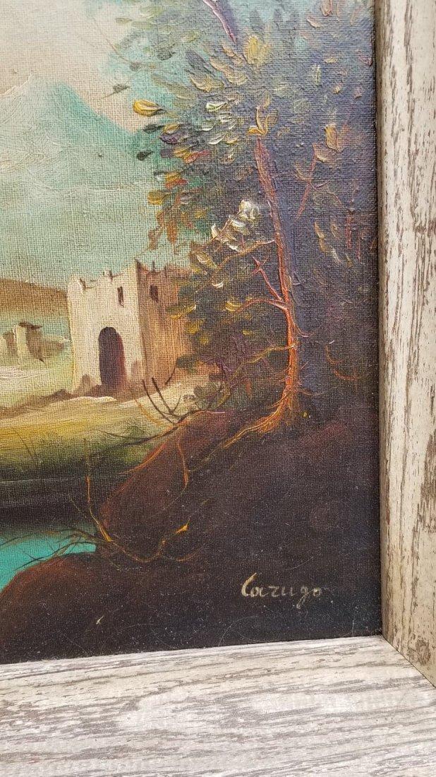 "Unknow artist signed Lazugo.oil on canvas 15.5""h - 2"