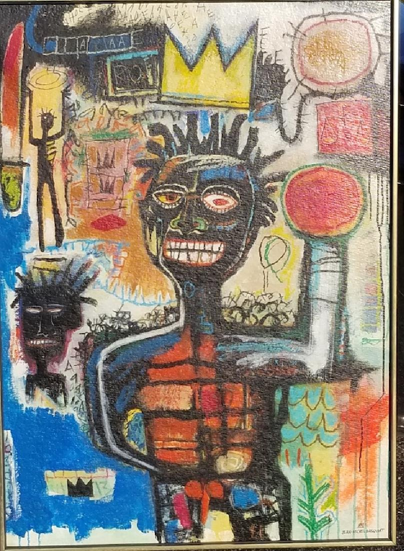 In the manner of: Jean Michel Basquiat -Original Street