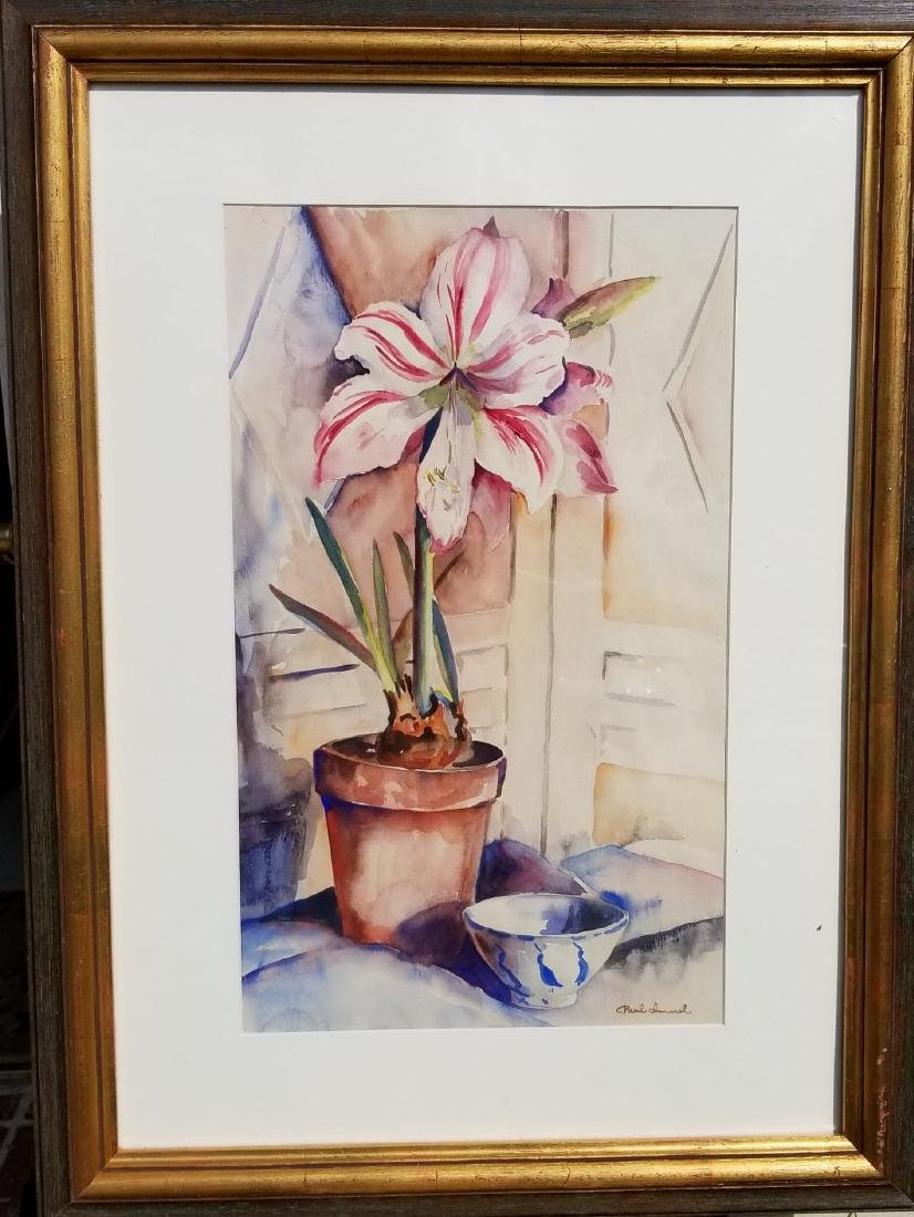 "Paul Immel  Watercolor/ papel, measures 17.5""h X"