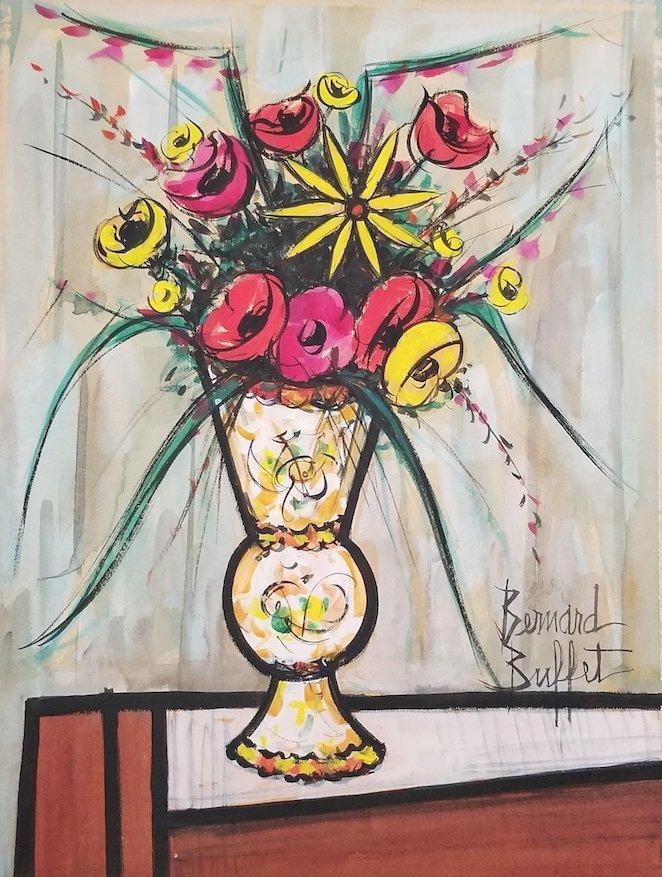 Bernard Buffet was a French painter of Expressionism an
