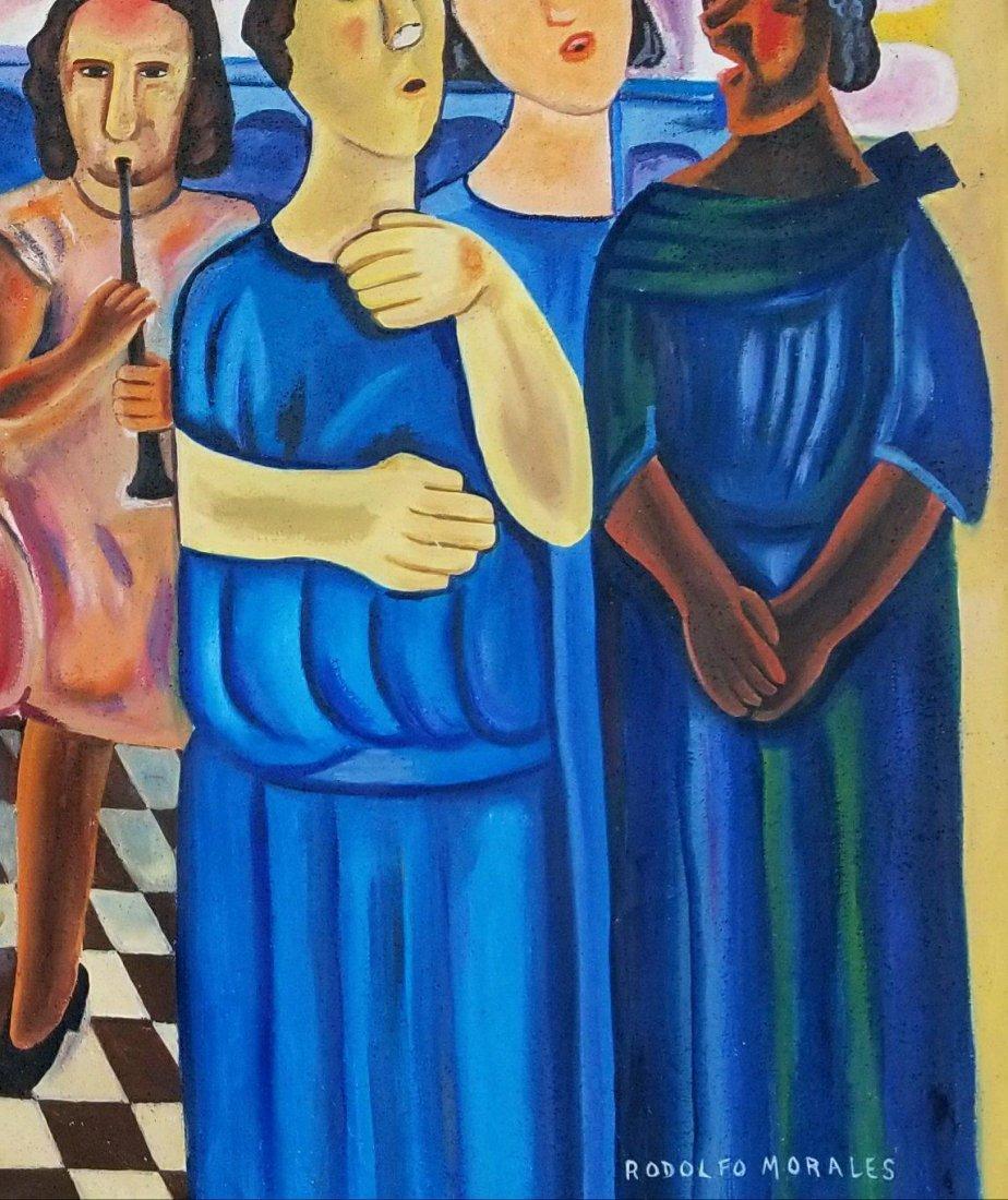Rodolfo Morales (1925-2001)-Oil on Canvas-ATTRIB. COA- - 2