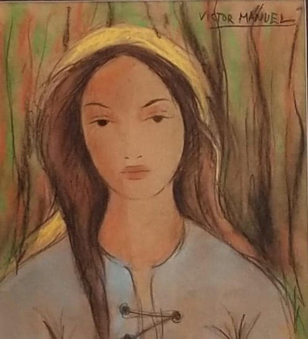 Victor Manuel -(1897-1969)-water color on paper.