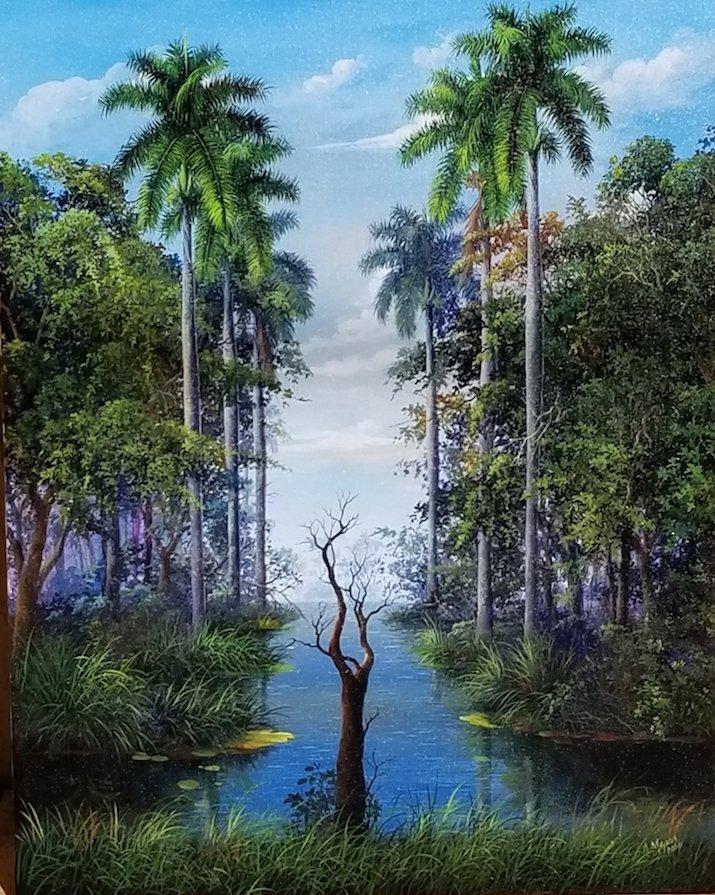 Armando Mejias Contemporary Cuban Artist , oil on canva
