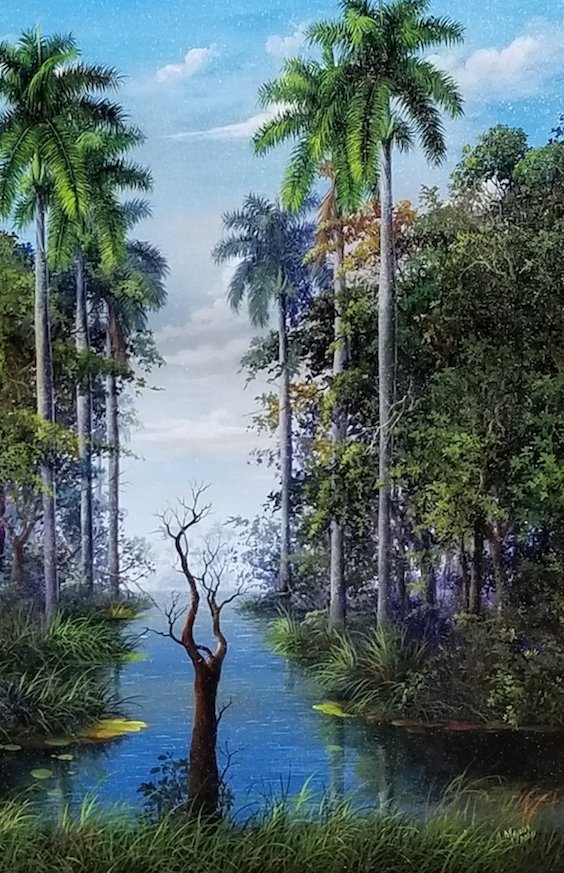 Armando Mejias Contemporary Cuban Artist , oil on canva - 2