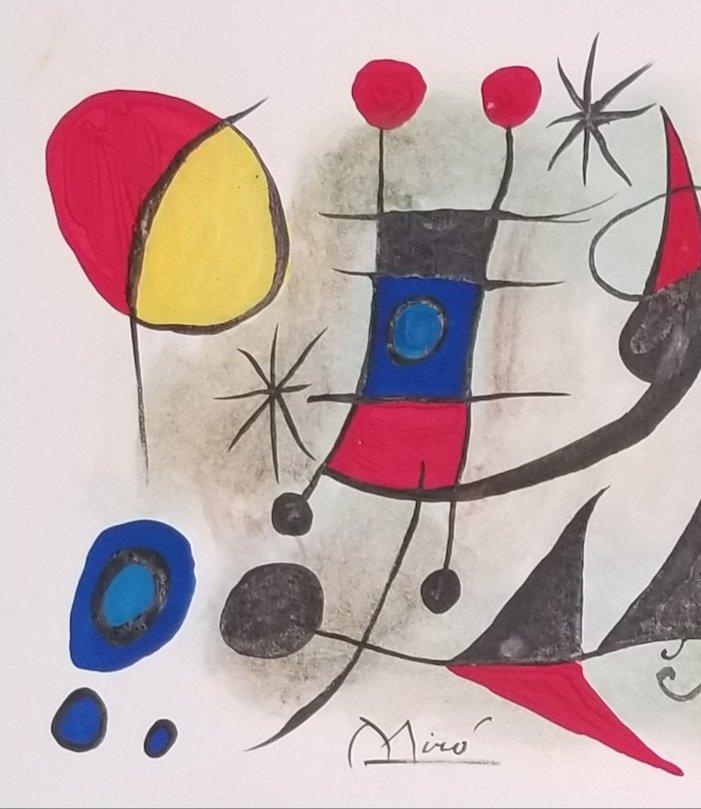 Joan Miro (1893-1983)- Spanish Painter, sculptor ad cer - 2