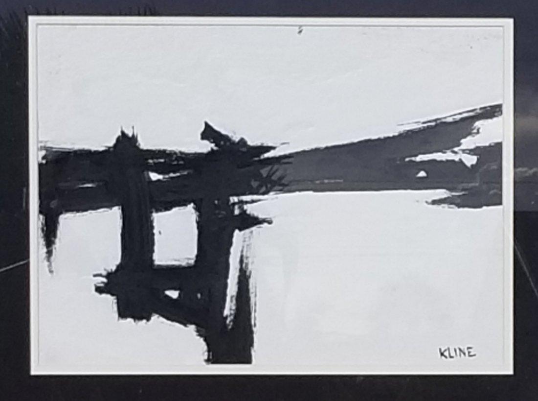"Frank Kline (Attrib -coa) Mixed media on paper size:11"" - 2"