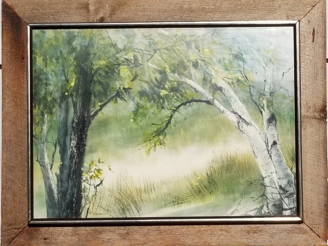 "Gloria Devereaux- Water color on Paper- Size: 21""h X"