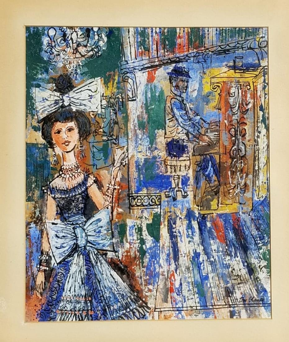 "Tom Blaney- Gouache on paper - Size: 16""h X 13.5""w-"