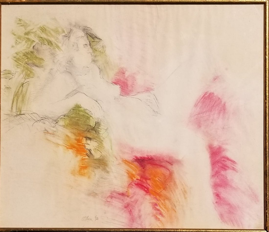 """A Olova- Lithograph """"Nude"""" -Signed and numbered-1/68-"""