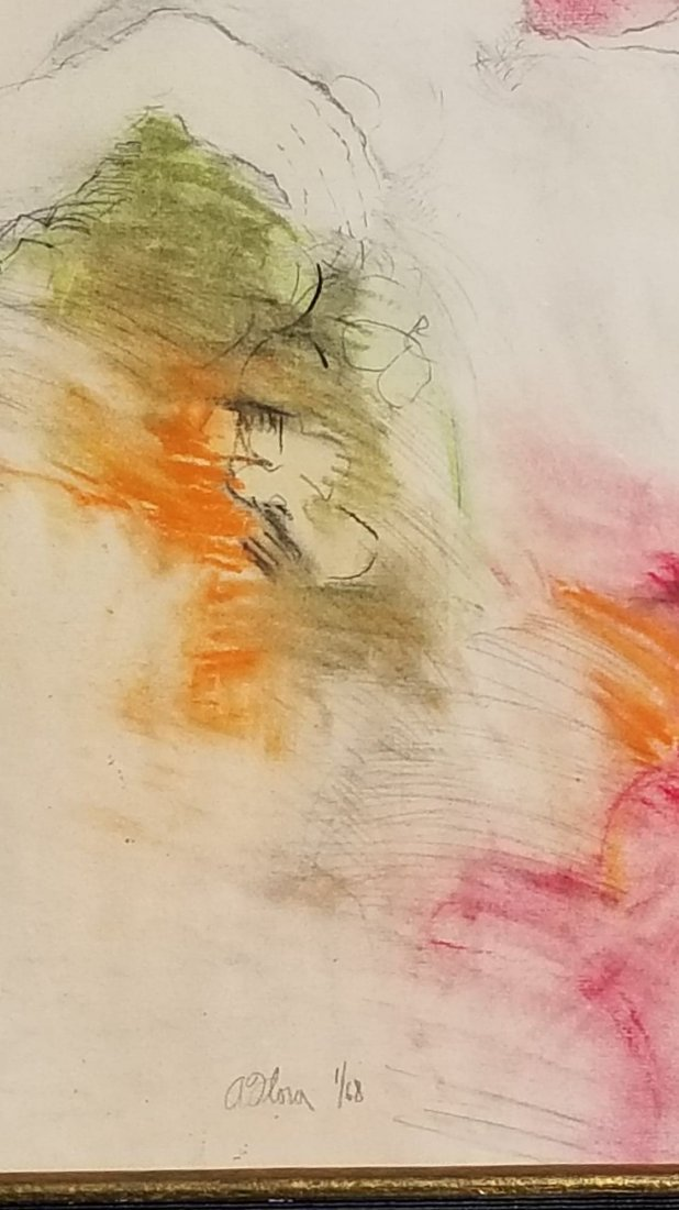 """A Olova- Lithograph """"Nude"""" -Signed and numbered-1/68- - 2"""