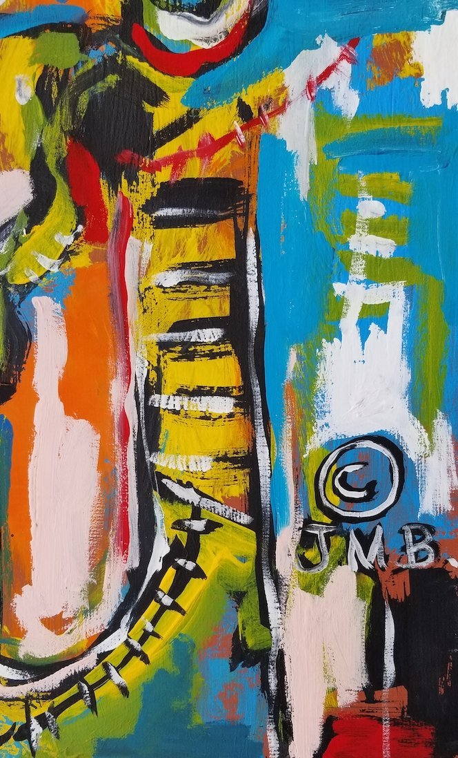 In the manner of: Jean Michel Basquiat (1960-1988)- - 2