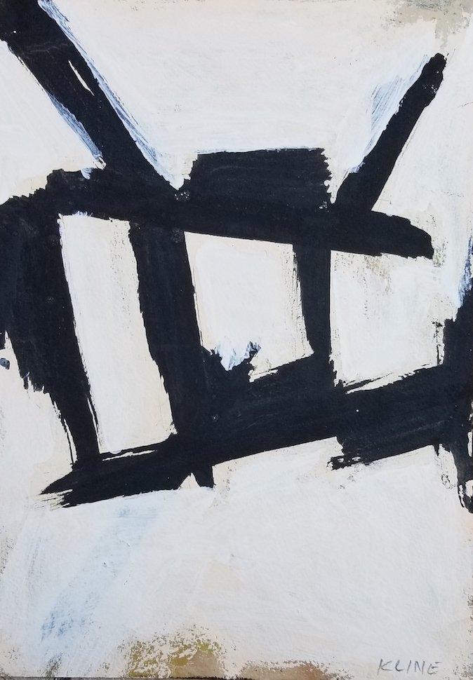 Franz Kline(1910-1962) was an American painter. He is
