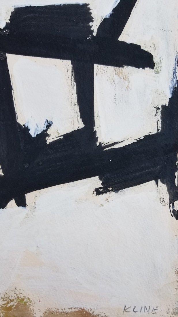 Franz Kline(1910-1962) was an American painter. He is - 3
