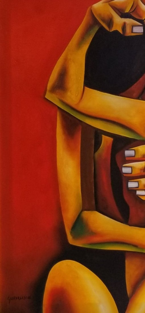 Oswaldo Guayasamin (1919-1999)- (attrib- coa),oil on - 2