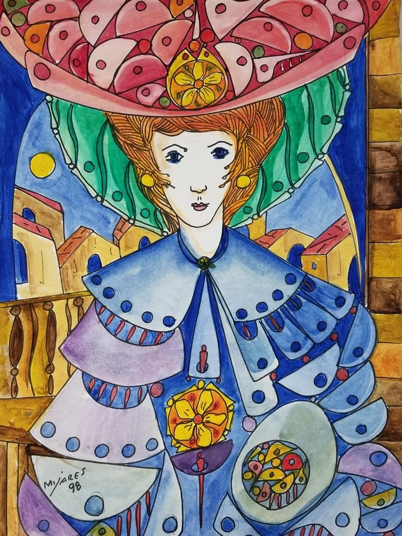 Jose Maria Mijares (1921-2004)-Water Color on Paper.