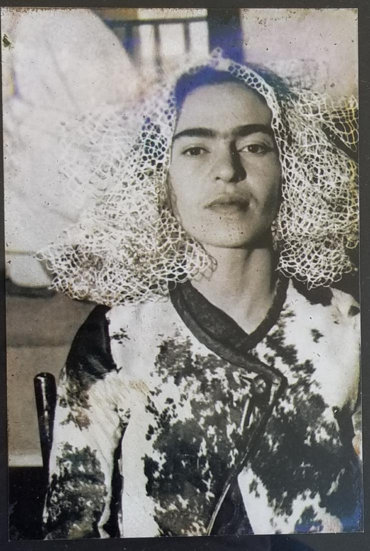 "Frida Kahlo - Photo- Size:4""h x 6""w,- Comes w/frame-"
