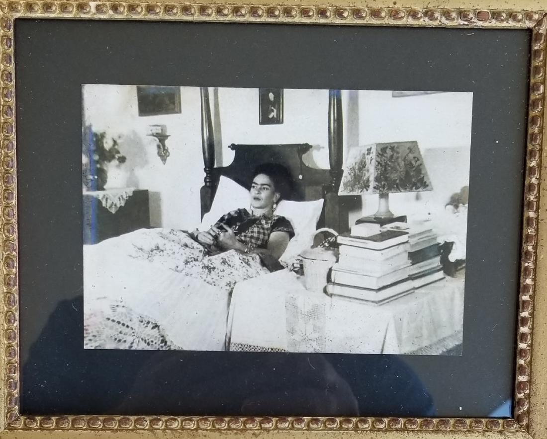 "Frida Kahlo - Photo- Size:4""h x 6""w,- Comes w/frame-"