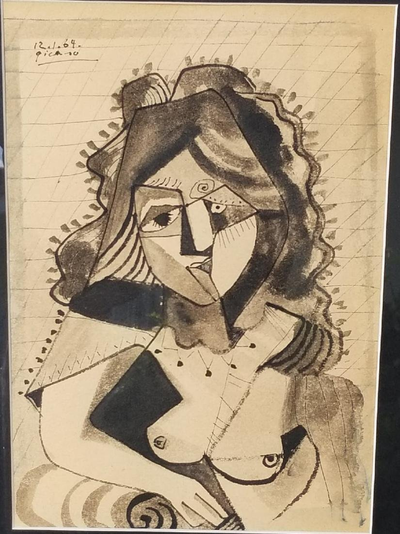 Pablo Picasso (1881-1973)-Ink  on paper-