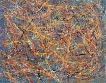 Jackson Pollock  Oil on canvas  attrib