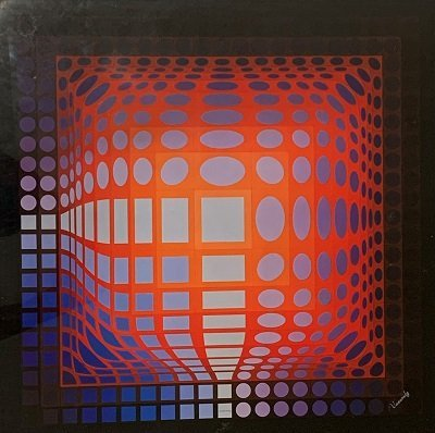 Victor Vasarely. (1906-1997) Serigraphy