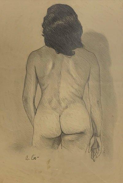Agustin Cardenas. (attrib)   Graphite on paper