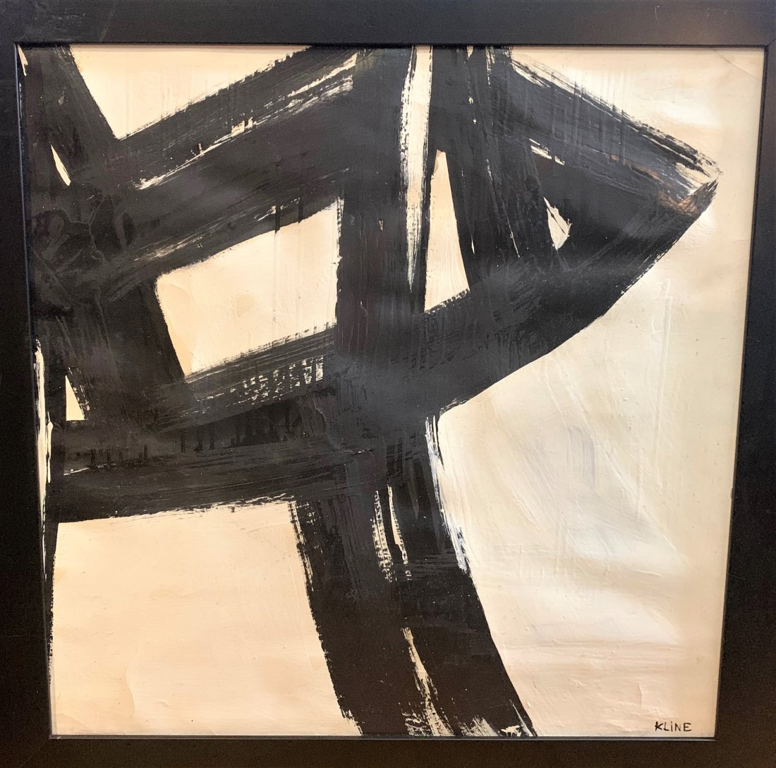 Franz Kline was an American painter. He is associated