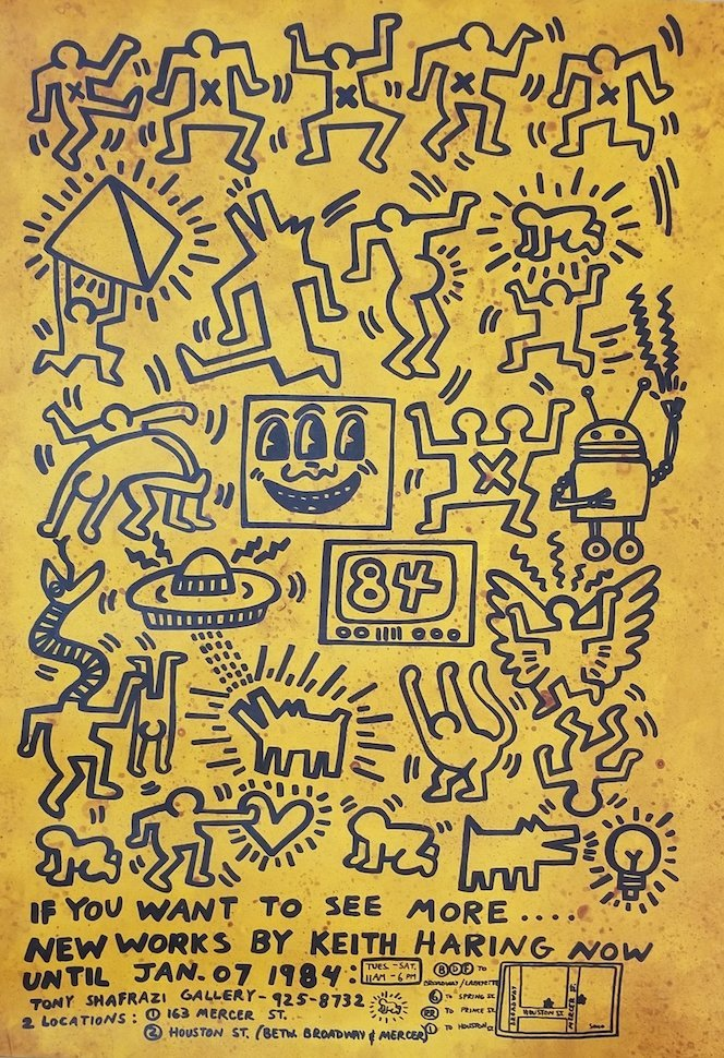 Keith Haring (1958-1990)- Original-Was the American