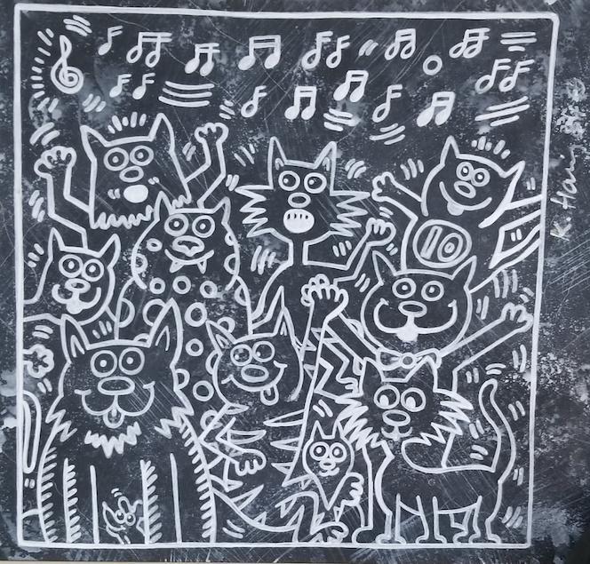 Keith Haring (1958-1990)- Original-Was the American