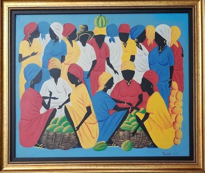 Unknown artist. Haitian piece. Oil on canvas!!