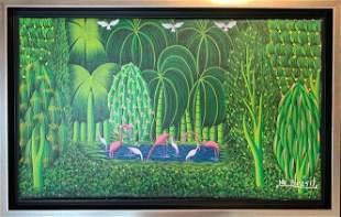 Henry-Robert Brésil was a Haitian painter. Hailing