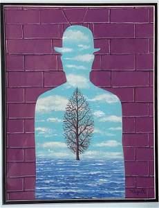Rene Magritte. ( 1898-1967) was a Belgian-born artist