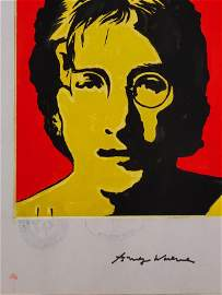 ConsignSigned ,Andy Warhol (1928-1987).was an American