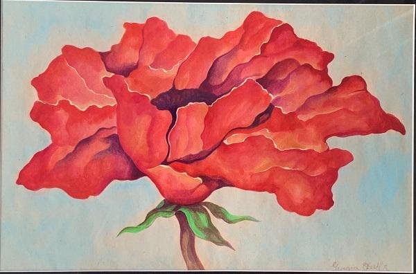 Georgia Totto O'Keeffe 1887-1986 Watercolor on paper on