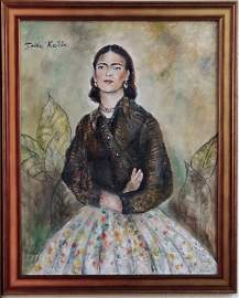 Consignment.Frida Kahlo was a Mexican painter known for
