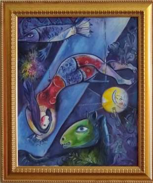 Marc Chagall (1887-1985)was a Russian-French artist of