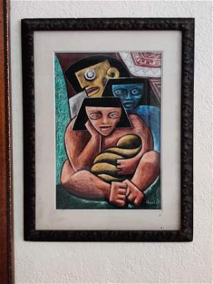 Unknown Artist - Signed on the bottom right - Oil on