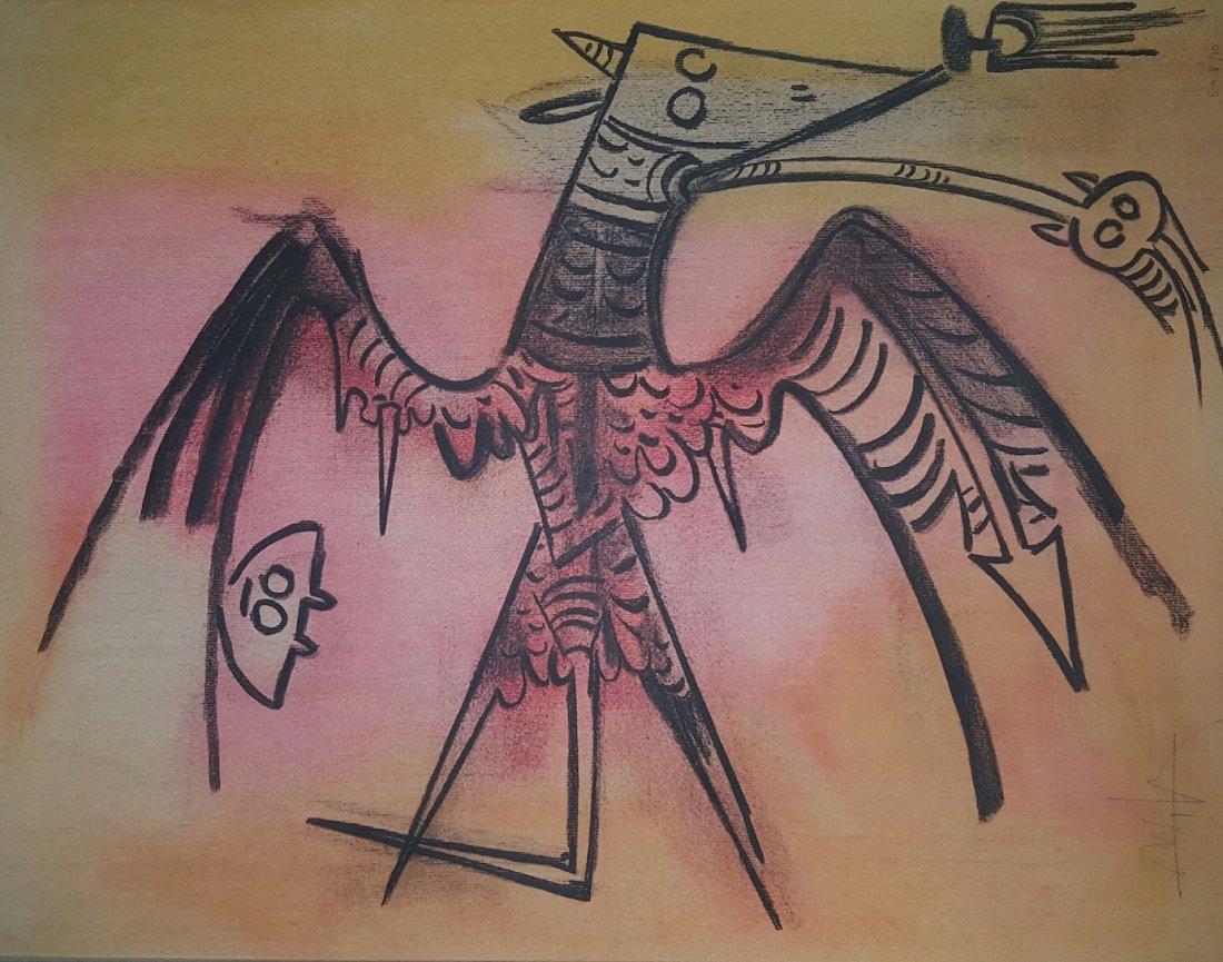 "Wilfredo Lam (1902-1982)-Serigraph-Size: 26""h x 19"".5w"
