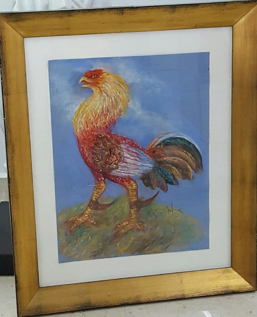 "Hector Mornet-Rooster-Size: 31.5"" X 25"""