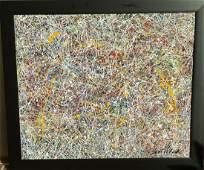 "Jackson Pollock-Oil on canvas-Attrib. COA-Size: 31""h X"
