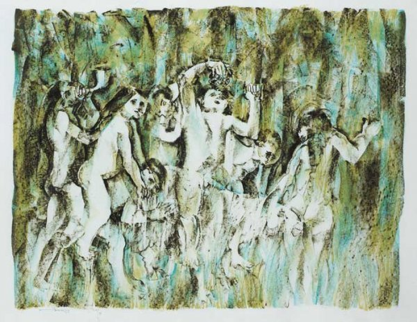 1: CHILDREN IN A WOOD III, 1991, lithograph (no. 20 fro