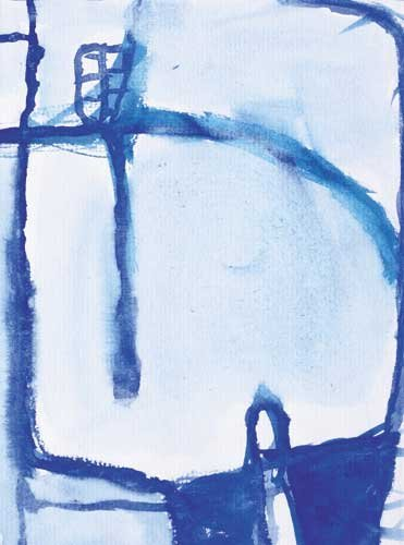 10: STANDING FIGURE, circa 1960, watercolour on paper,