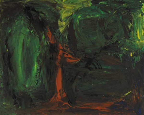 13: WHERE WATER FLOWS IN WINTER, 1961, oil on canvas, s